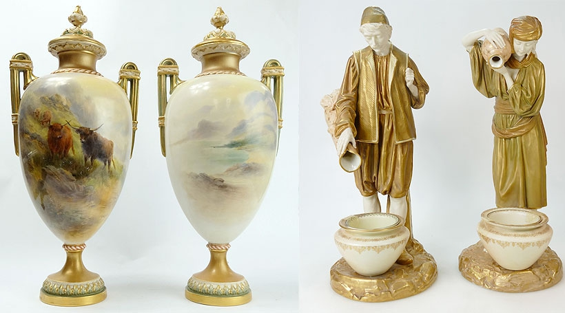 Royal Worcester Pottery At Auction