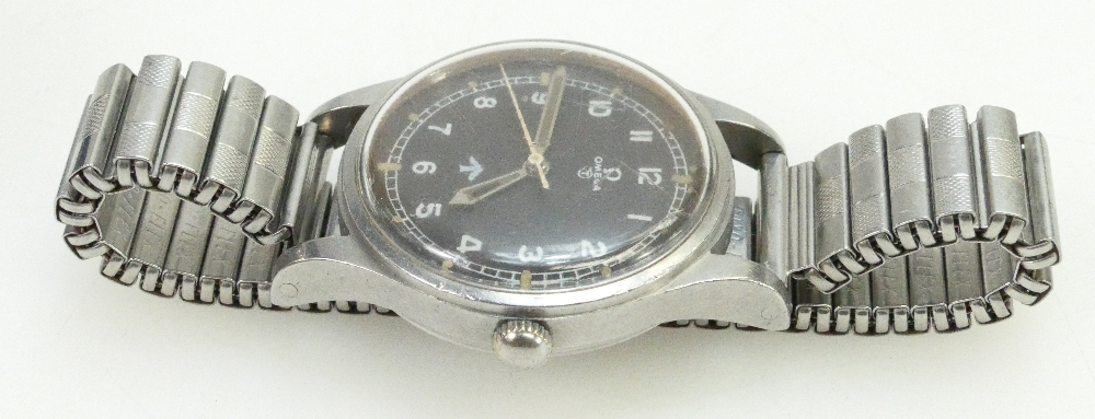 An Omega 1953 steel pilot's watch that was auctioned at £900 (A1706, lot 1500)