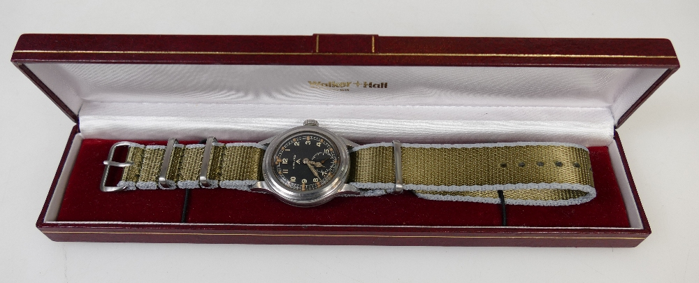 Longines Greenlander 1957 steel Army watch that fetched £2700 at auction (A1903, lot 873)