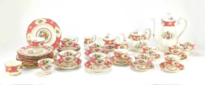 This Royal Albert Lady Carlyle dinner, tea and coffee set is available at the Potteries Auctions September sale