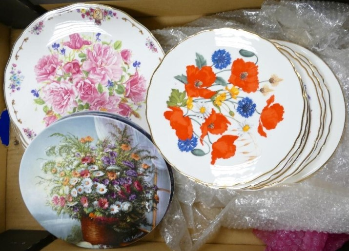 This large collection of Royal Albert and similar floral decorated wall plates, sold for an impressive £150 by Potteries Auctions