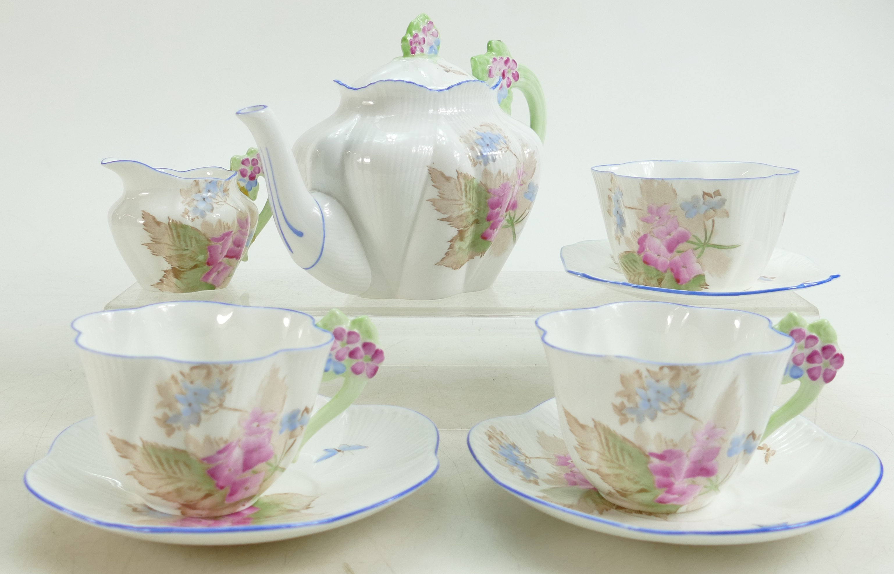 A Shelley Dainty floral tea set