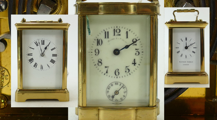 A collection of carriage clocks that came to auction and that are always popular with auction crowds, sold by Potteries Auctions