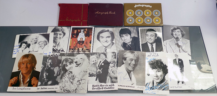 A collection of showbiz memorabilia went for £300 at our auction featured autographs from mid-century show business personalities such as Val Doonican, Cilla Black, Les Dawson and Bobby Crush